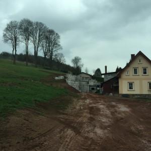 Opěrná zeď – Dolní Kalná