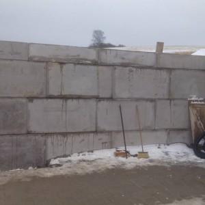 Rýnarec – bazén, plot, opěrná stěna