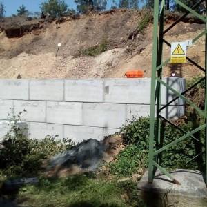 Opěrná stěna na Kaňku