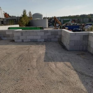 Opěrná stěna – AVE Žďár nad Sázavou