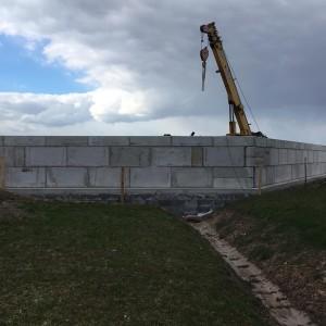 Dělící stěna na technologií kalů – AVE Čáslav