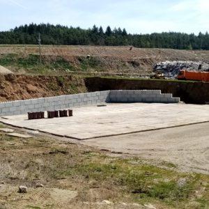 Opěrná stěna – Opady Písek s.r.o